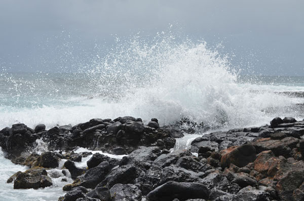 coastal breakers at Poipu, Hawaii
